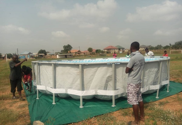 VIDEO&PHOTOS: Hearts Of Oak set-up temporal swimming pool at Pobiman training complex