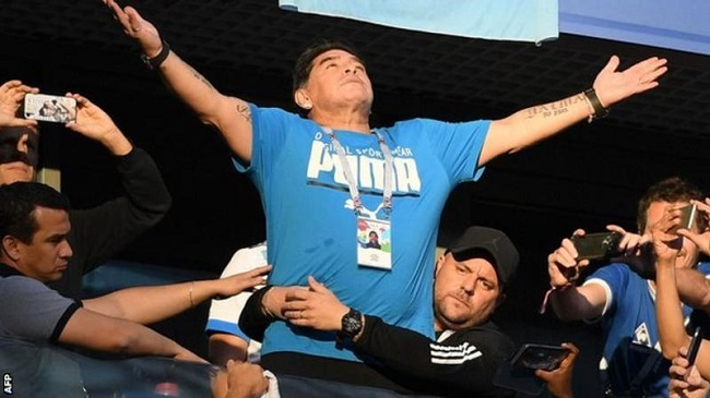 Diego Maradona released from hospital after internal bleeding