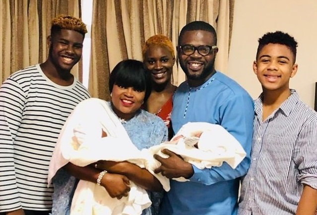 First photo of Funke Akindele twin boys