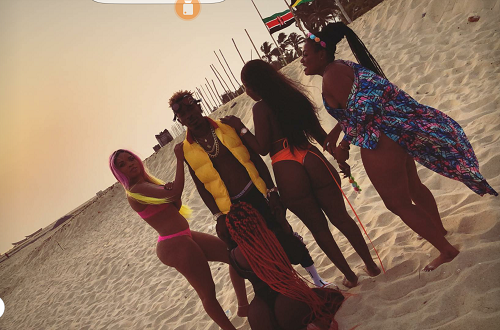 Shatta Wale on-set shooting video for 'island'