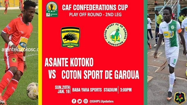 CAF CC: Media accreditation for Kotoko vs Coton Sport ready