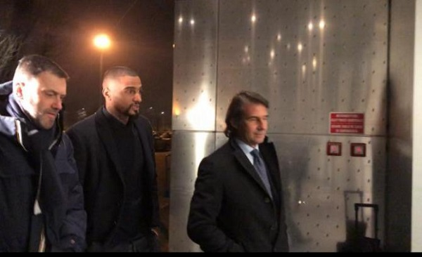 PHOTOS: Kevin-Prince Boateng departing for Spain to seal his deal to Barcelona