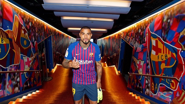 FC Barcelona newbie, KP Boateng chooses Messi over Ronaldo