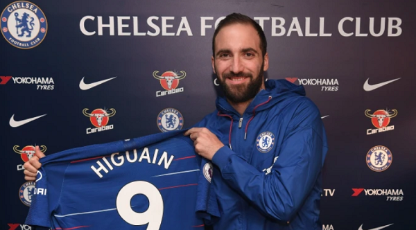 Chelsea complete loan signing of Gonzalo Higuain