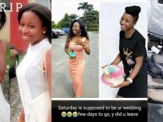 Fresh University graduate killed in fatal accident few days to her wedding