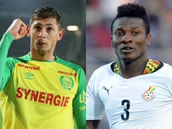 Asamoah Gyan pays special tribute to missing Emiliano Sala