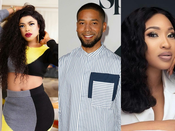 Tonto Dikeh and Bobrisky reacts to homophobic attack on Jussie Mollett