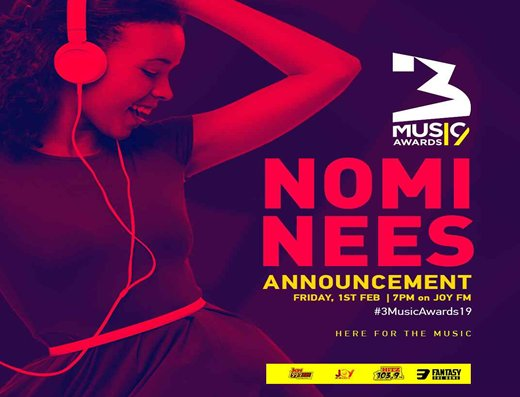 3Music Awards unveils 2019 nominees