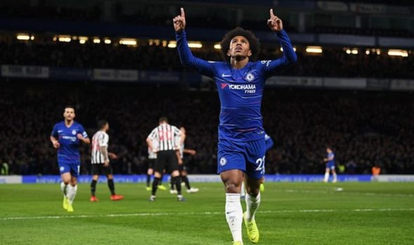 EPL: Willian's beauty strengthens Chelsea's top four spot