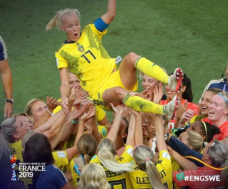 Women's World Cup: Sweden defeat England to take bronze