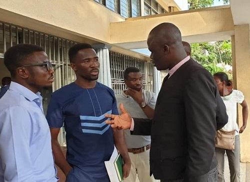 Modern Ghana Journalists with their lawyer