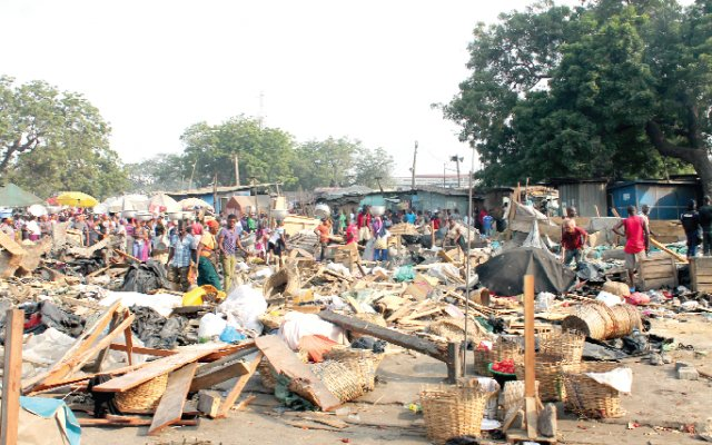 Kasoa: Traders lose properties in decongestion exercise