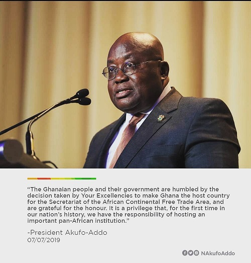 Akufo-Addo on AfCFTA secretariat