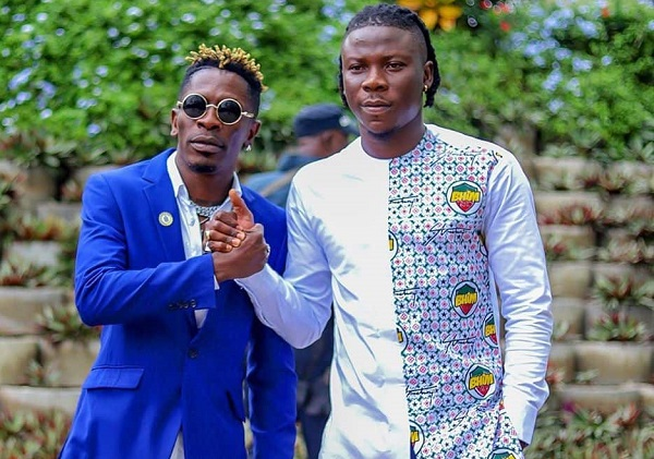Shatta Wale (left) and Stonebwoy (left)