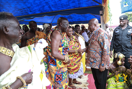 You've fulfilled most of your promises to Ghanaians - Chief tells Prez. Akufo-Addo