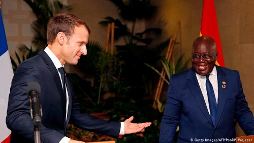 President of France Emmanuel Macron and President Akufo-Addo