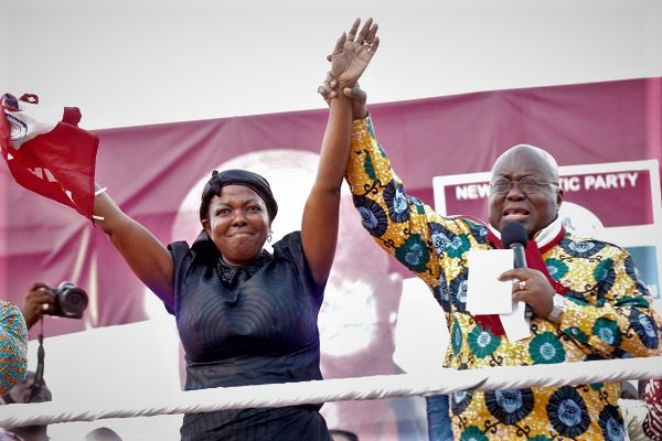 President Akufo-Addo and MP for Ayawaso West Wuogon, Lydia Alhassan
