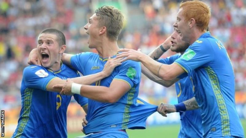 Ukraine had never before been beyond the last 16 at the Under-20 World Cup