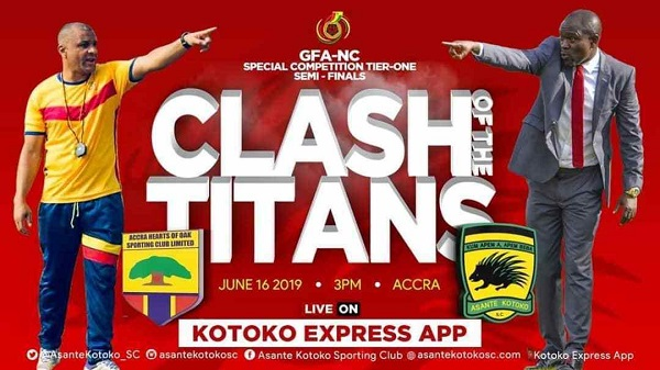 Hearts, Kotoko name strong line up for Semifinal clash