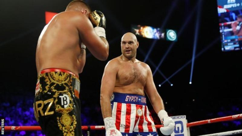 Fury's defeat of Schwarz was his 28th win in 29 fights