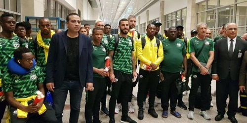 AFCON 2019: South Africa lands in Egypt for tournament