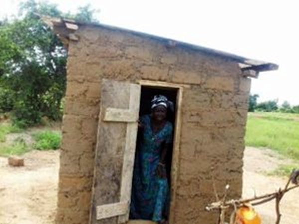 75-year-old widow borrowed from savings and loans firm to build toilet