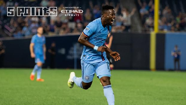 Ebenezer Ofori on target as New York City humble Seattle Sounders