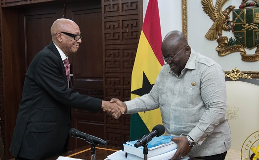 PHOTOS+VIDEO: Ayawaso Commission presents report to Prez Akufo-Addo