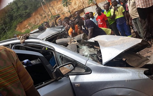 Four perish in a gory accident at Tarkwa