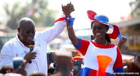 Akufo-Addo and Ursula Owusu