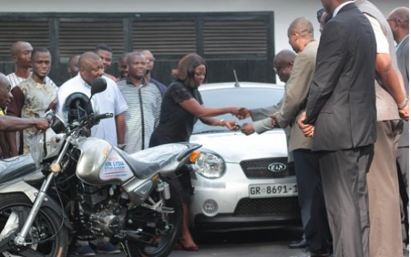 UG attack: Lydia Alhassan donates vehicle, motorbikes to aid security (PHOTOS)