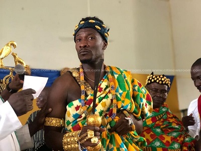 PHOTOS: Asamoah Gyan enstooled as chief in Hohoe