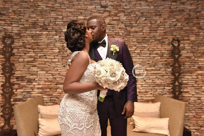 John Dumelo's white wedding