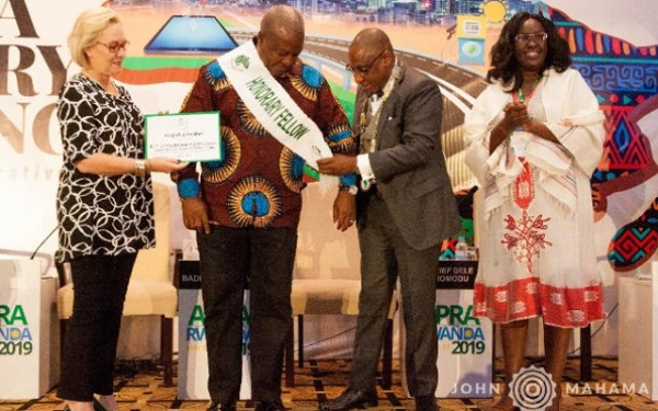 Mahama inducted as an Honorary Fellow of APRA