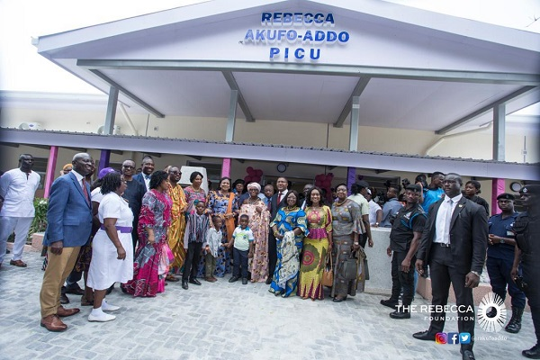 First Lady commissions Korle Bu Paediatric Intensive Care Unit