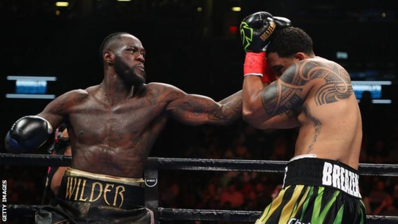 The only blip on Wilder's otherwise flawless record is a draw with Tyson Fury in December 2018