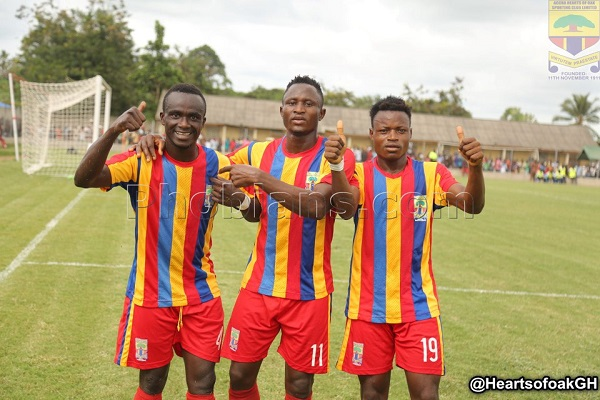 NC's Special Competition: Hearts brush off Sharks to stay top, Yacouba scores as Kotoko beat Medeama