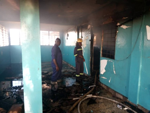 Fire guts shop at Sakaman
