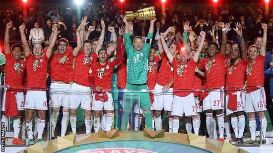 Bayern win German Cup to clinch double