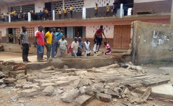 Collapsed wall kills mother, son