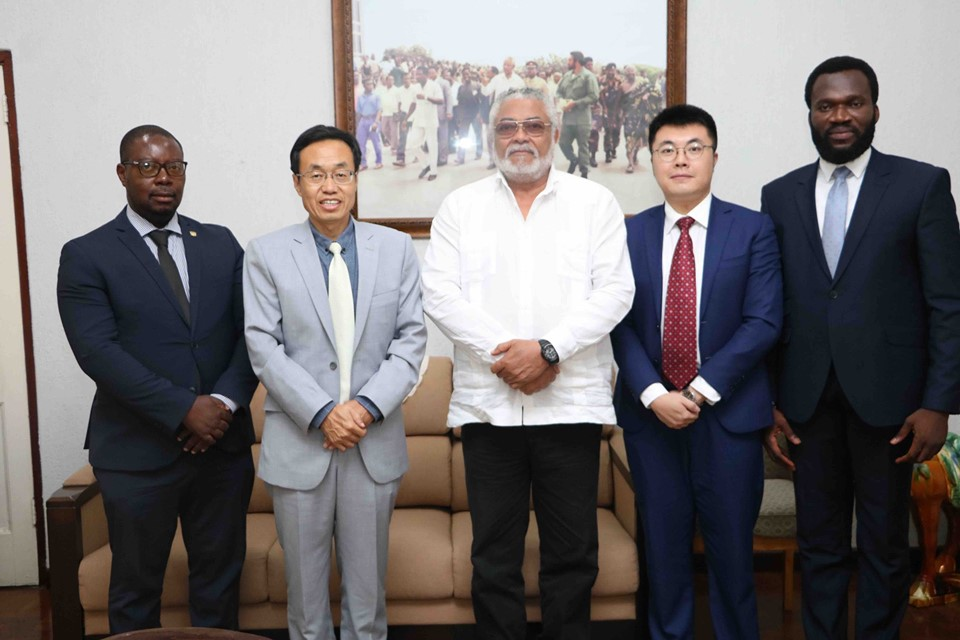 Rawlings with a delegation from the China embassy