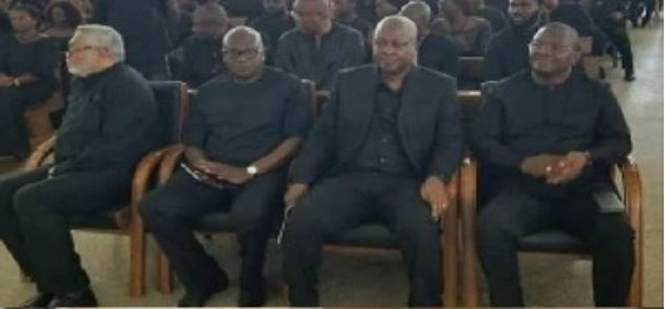 The photo that suggests the bad blood between Mahama and Rawlings