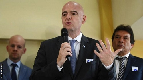 FIFA president Gianni Infantino wants to invest in developing African football