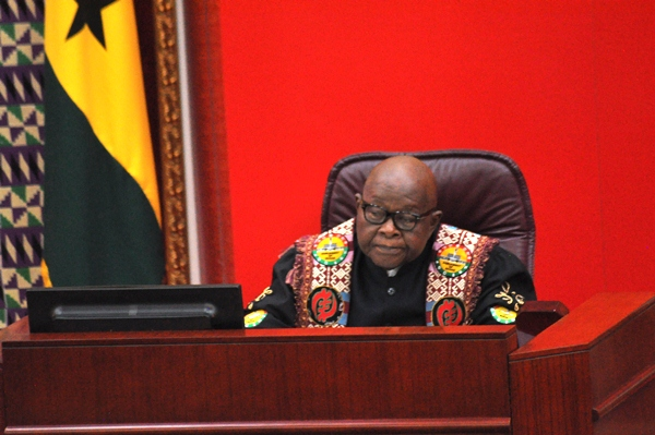 Speaker of Parliament Professor Aaron Mike Oquaye