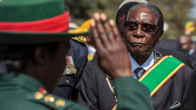 Mr Mugabe was a prominent figure during Zimbabwe's fight for independence