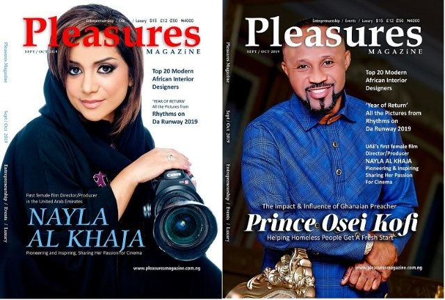 Ghana's Pastor Prince, UAE's first female film director cover Pleasures Magazine