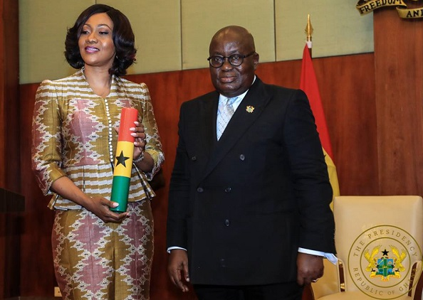 Prez. Akufo-Addo and EC boss Jean Mensah