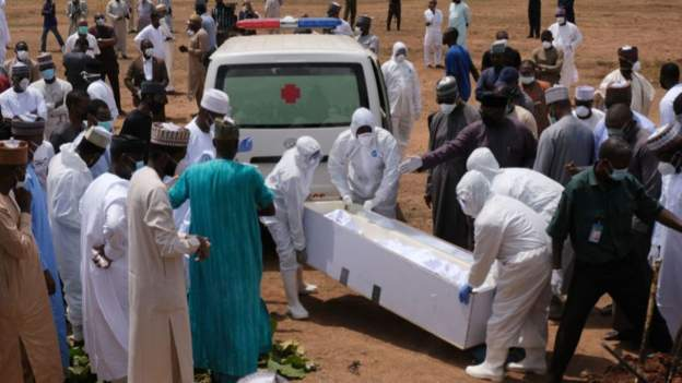 Abba Kyari was buried at a cemetery in the capital, Abuja