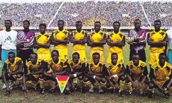 Ghana's AFCON 1992 final match squad