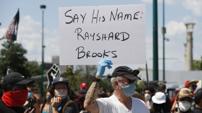 Rayshard Brooks died on Friday after being shot by a police officer